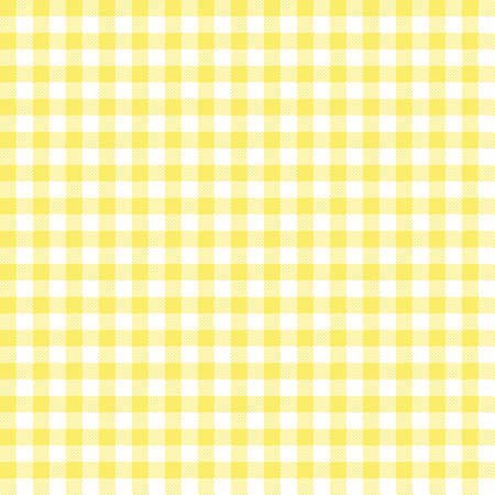 Yellow Gingham seamless pattern. Texture from rhombus/squares for - plaid, tablecloths, clothes, shirts, dresses, paper, bedding, blankets, quilts and other textile products. Vektoros illusztráció