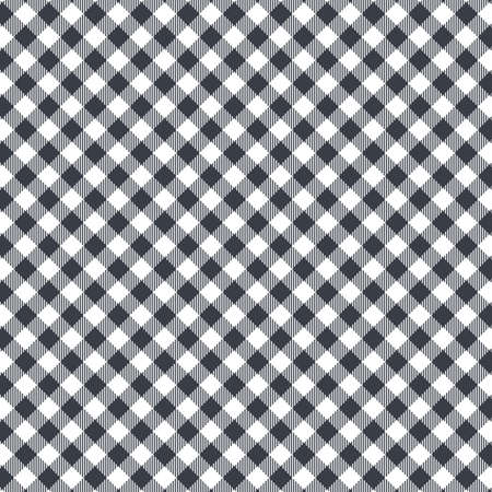 Black Gingham seamless pattern. Texture from rhombus/squares for - plaid, tablecloths, clothes, shirts, dresses, paper, bedding, blankets, quilts and other textile products. Standard-Bild - 133678445