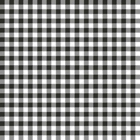Black Gingham seamless pattern. Texture from rhombus/squares for - plaid, tablecloths, clothes, shirts, dresses, paper, bedding, blankets, quilts and other textile products. Standard-Bild - 133678444