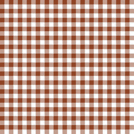 Orange Gingham seamless pattern. Texture from rhombus/squares for - plaid, tablecloths, clothes, shirts, dresses, paper, bedding, blankets, quilts and other textile products. Standard-Bild - 133678446