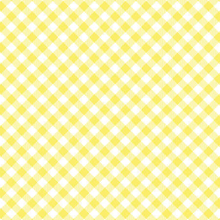 Yellow Gingham seamless pattern. Texture from rhombus/squares for - plaid, tablecloths, clothes, shirts, dresses, paper, bedding, blankets, quilts and other textile products. Standard-Bild - 133678449