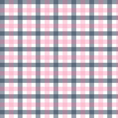 Black red check seamless pattern. Texture for plaid, tablecloths, clothes, shirts, dresses, paper, bedding, blankets, quilts and other textile products. Vector illustration Çizim