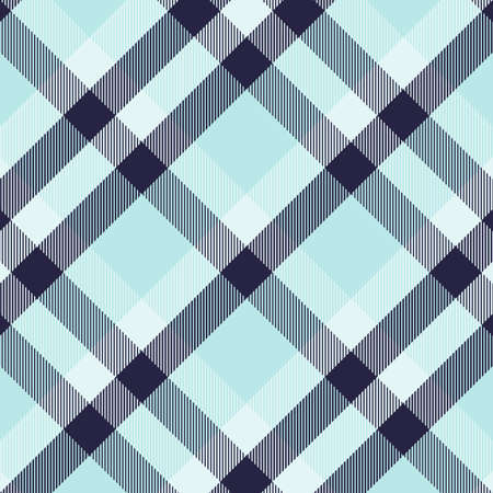 Tartan blue and cyan seamless pattern.Texture for plaid, tablecloths, clothes, shirts, dresses, paper, bedding, blankets, quilts and other textile products. Vector illustration