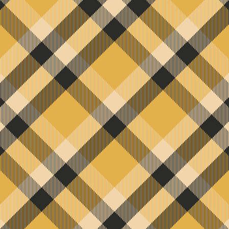 Tartan yellow and black seamless pattern.Texture for plaid, tablecloths, clothes, shirts, dresses, paper, bedding, blankets, quilts and other textile products. Vector illustration