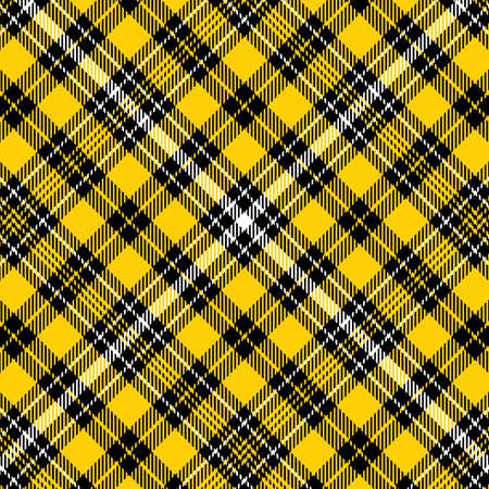 Tartan yellow and black seamless pattern. Texture for plaid, tablecloths, clothes, shirts, dresses, paper, bedding, blankets, quilts and other textile products. Çizim