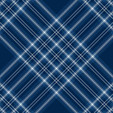 Tartan blue and white seamless pattern. Texture for plaid, tablecloths, clothes, shirts, dresses, paper, bedding, blankets, quilts and other textile products. Çizim