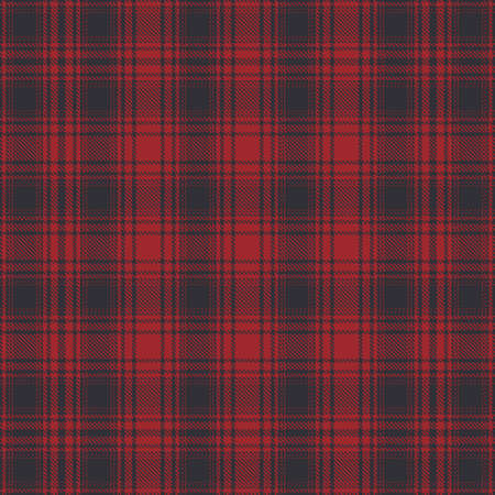 Tartan red and black seamless pattern. Illustration