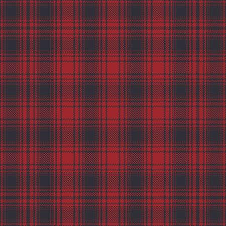 Tartán rojo y negro de patrones sin fisuras. Ilustración de vector