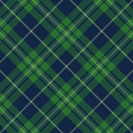 Tartan green and blue seamless pattern. Texture for plaid, tablecloths, clothes, shirts, dresses, paper, bedding, blankets, quilts and other textile products. Vector illustration EPS 10