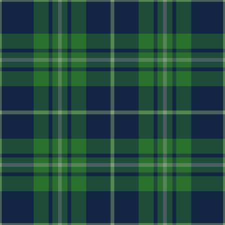 green and blue seamless pattern. Texture for plaid, tablecloths, clothes, shirts, dresses, paper, bedding, blankets, quilts and other textile products. Vector illustration