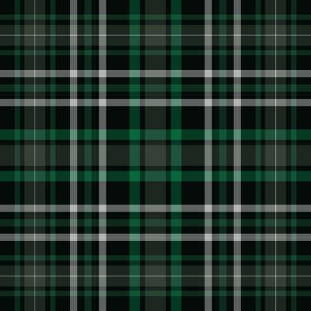 Motif vectoriel damier sans couture vert et noir à carreaux tartan. Vecteur EPS 10