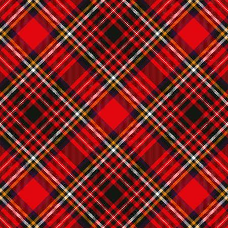 Reticolo di vettore a scacchi senza giunte scozzese plaid rosso e nero. Eps vettoriale 10