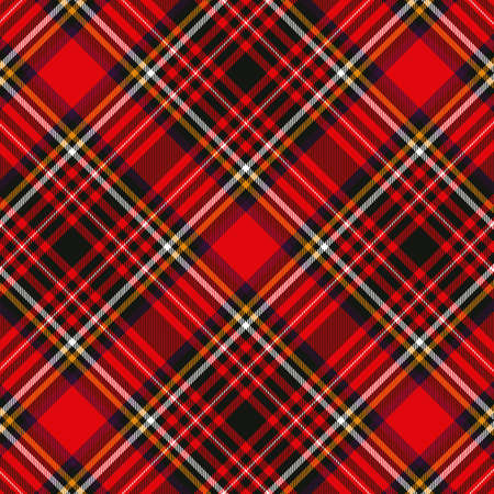 Tartan plaid red and black seamless checkered vector pattern. Vector EPS 10