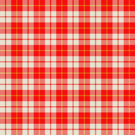 Tartan plaid pattern background. Texture for plaid, tablecloths, clothes, shirts, dresses, paper, bedding, blankets, quilts and other textile products. Vector illustration Zdjęcie Seryjne - 157365124
