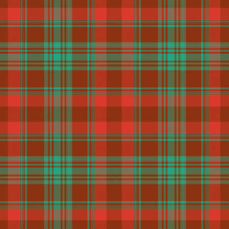 Tartan plaid pattern background. Texture for plaid, tablecloths, clothes, shirts, dresses, paper, bedding, blankets, quilts and other textile products. Vector illustration Zdjęcie Seryjne - 157365164