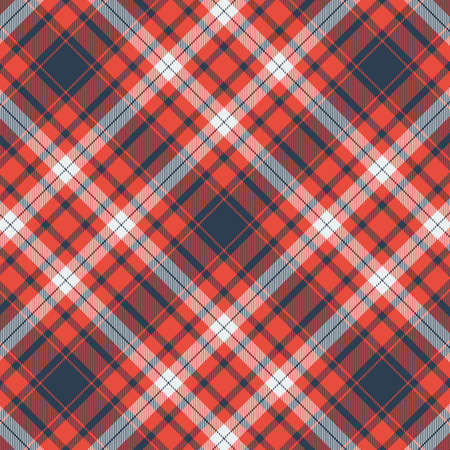 Tartan plaid pattern background. Texture for plaid, tablecloths, clothes, shirts, dresses, paper, bedding, blankets, quilts and other textile products. Vector illustration Zdjęcie Seryjne - 157365177
