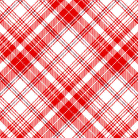 Tartan plaid pattern background. Texture for plaid, tablecloths, clothes, shirts, dresses, paper, bedding, blankets, quilts and other textile products. Vector illustration Zdjęcie Seryjne - 157370174