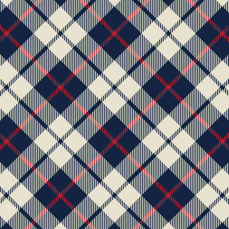 Tartan plaid pattern background. Texture for plaid, tablecloths, clothes, shirts, dresses, paper, bedding, blankets, quilts and other textile products. Vector illustration Zdjęcie Seryjne - 157371360