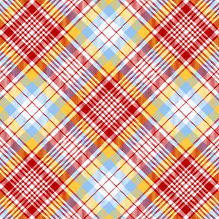 Tartan plaid pattern background. Texture for plaid, tablecloths, clothes, shirts, dresses, paper, bedding, blankets, quilts and other textile products. Vector illustration Zdjęcie Seryjne - 157371871