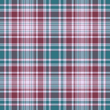 Tartan plaid pattern background. Texture for plaid, tablecloths, clothes, shirts, dresses, paper, bedding, blankets, quilts and other textile products. Vector illustration Zdjęcie Seryjne - 157371975