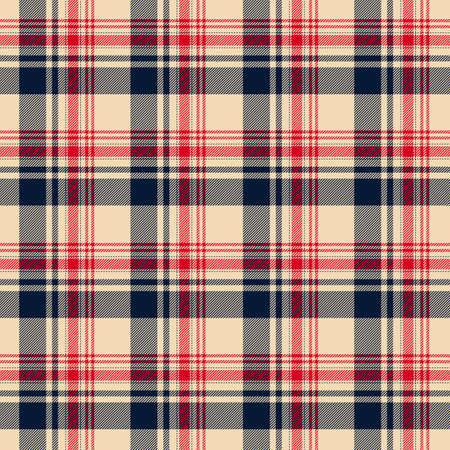 Tartan plaid pattern background. Texture for plaid, tablecloths, clothes, shirts, dresses, paper, bedding, blankets, quilts and other textile products. Vector illustration Zdjęcie Seryjne - 157371980