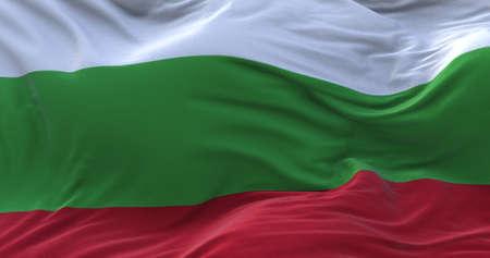 Bulgaria flag waving in the wind. 3D rendering. Zdjęcie Seryjne