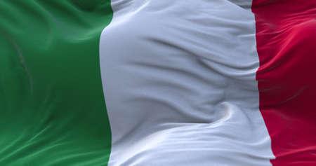 Italy flag waving in the wind. 3D rendering. Zdjęcie Seryjne