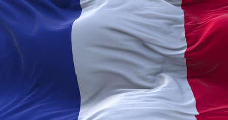 France flag waving in the wind. 3D rendering. Zdjęcie Seryjne