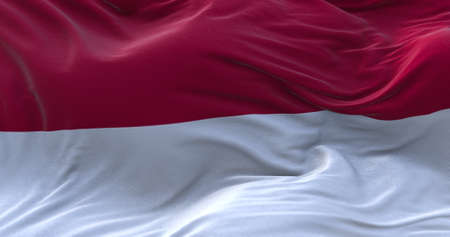 Indonesia flag waving in the wind. 3D rendering.