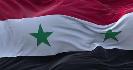 Syria flag waving in the wind. 3D rendering. Zdjęcie Seryjne