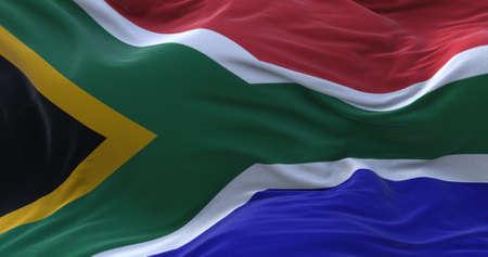 South Africa flag waving in the wind. 3D rendering. Zdjęcie Seryjne