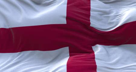 England flag waving in the wind. 3D rendering. Zdjęcie Seryjne