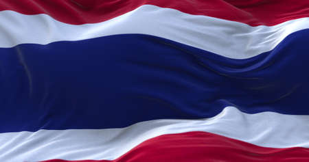 Thailand flag waving in the wind. 3D rendering.