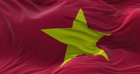Vietnam flag waving in the wind. 3D rendering. Zdjęcie Seryjne - 158903112