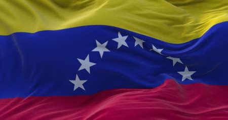 Venezuela flag waving in the wind. 3D rendering. Zdjęcie Seryjne