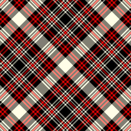 Tartan plaid pattern background. Texture for plaid, tablecloths, clothes, shirts, dresses, paper, bedding, blankets, quilts and other textile products. Vector illustration EPS 10 Zdjęcie Seryjne - 158348327