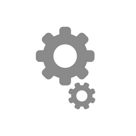 gears: Flat design style vector illustration of gears symbol icon on white background.