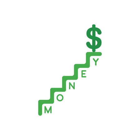 Flat Design Illustration Concept Of Green Dollar Money Symbol