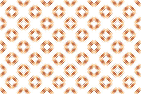 Seamless pattern. White background and shaped diamond in brown tints. Stockfoto