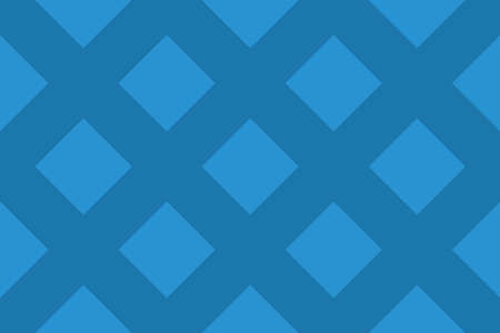 Seamless geometric pattern. Shaped 45 degree rotated blue squares on dark blue background. Stock Illustratie