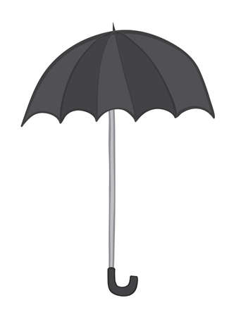 Vector illustration umbrella. Hand drawn. Colored outlines.