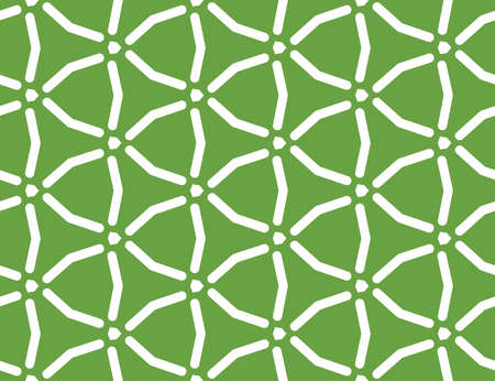 Vector seamless geometric pattern. White lines and green background. Illusztráció