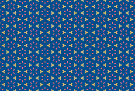 Seamless geometric pattern. Brown and red colors on blue background. 写真素材