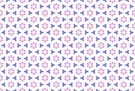 Seamless geometric pattern. Purple and pink colors on white background.
