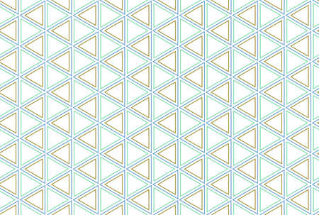 Seamless geometric pattern. Brown, blue and green colors on white background. 写真素材