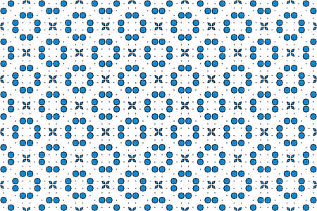 Seamless geometric pattern. Blue and black colors on white background. 写真素材