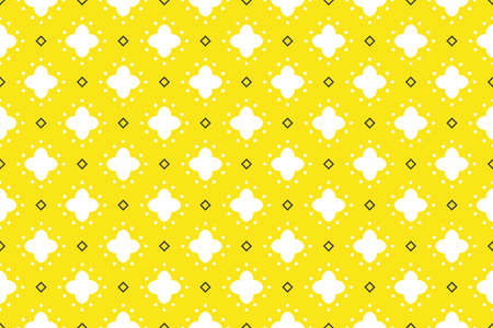 Seamless geometric pattern. White yellow and black colors. 写真素材