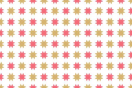 Seamless geometric pattern. Red and brown colors on white background.