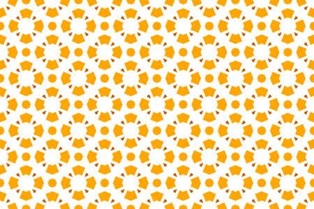 Seamless geometric pattern. Orange color tones on white background. 写真素材