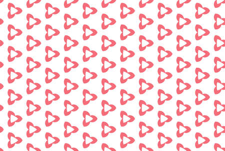 Seamless geometric pattern. Light red colors on white background.